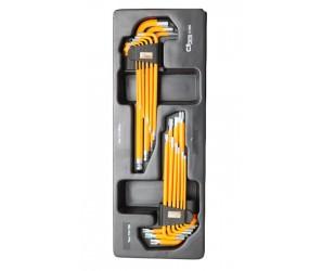 <span style='font-size:16px;font-weight:bold;'>Corona zestaw kluczy imbus 1,5-10mm oraz torx T10-T50 długie w kasecie 18szt</span><br /><span style='font-size:10px'>Zdjęcie 1 z 1</span>
